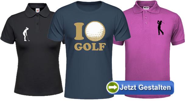 online store 68d44 6ce9e Golf T-Shirt selbst gestalten